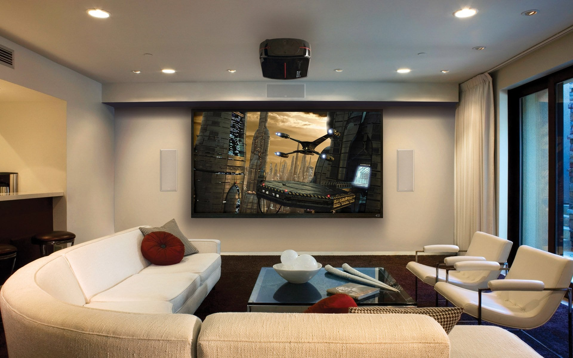 home theater big screen