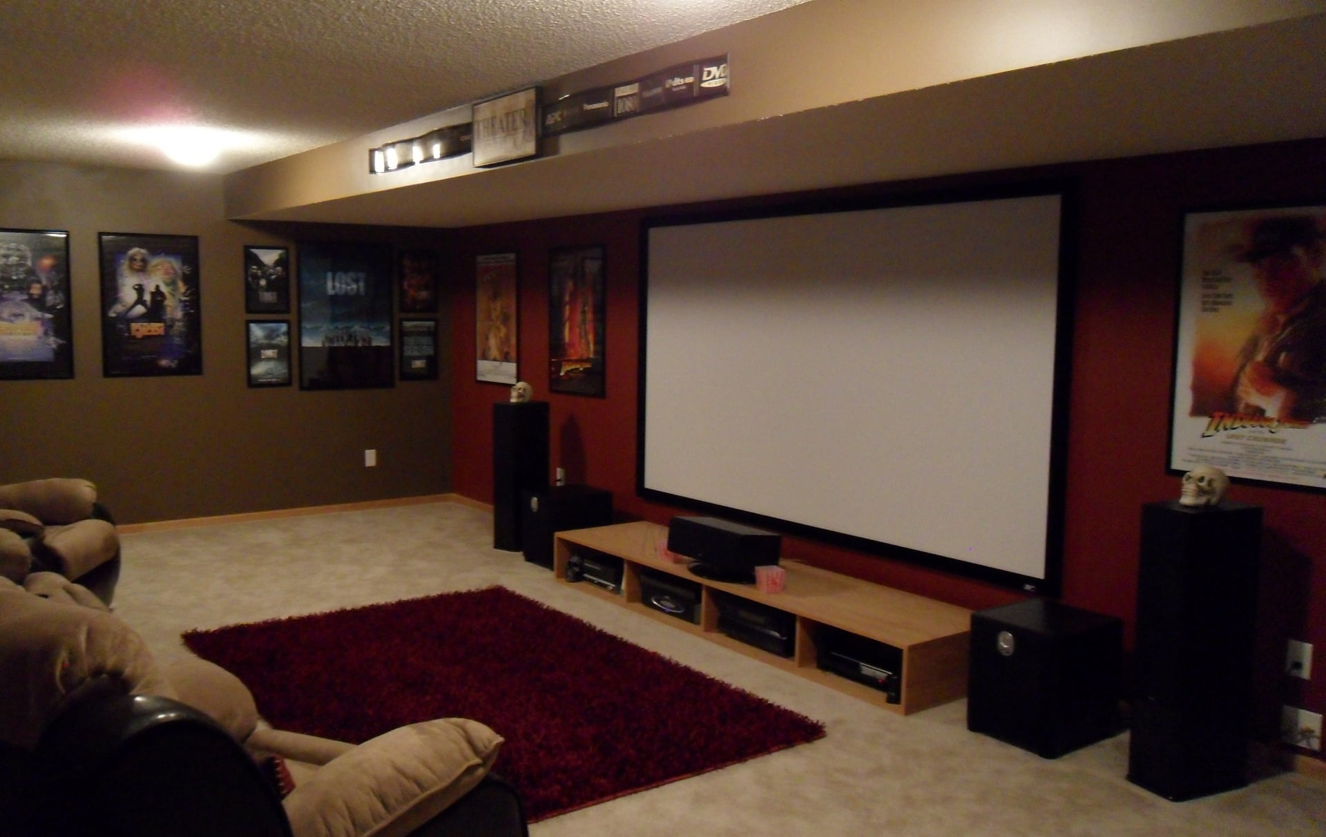 Basement Home Theater Lighting Delighful Ideas Tailored To Match Your